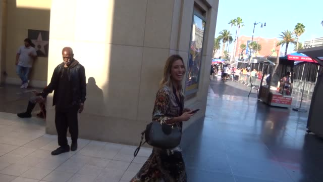 renee bargh outside the spider-man far from home premiere at tcl chinese theatre in hollywood in celebrity sightings in los angeles, - tcl chinese theatre stock videos & royalty-free footage
