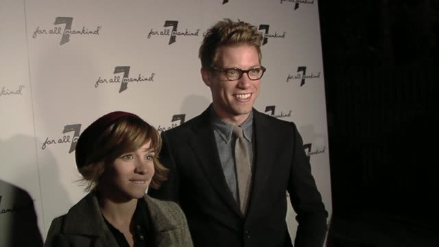 Renee Felice Smith and Barrett Foa at the Vanity Fair Hosts 7 For All Mankind 10th Anniversary Celebration at Beverly Hills CA