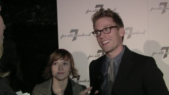Renee Felice Smith and Barrett Foa on the event at the Vanity Fair Hosts 7 For All Mankind 10th Anniversary Celebration at Beverly Hills CA