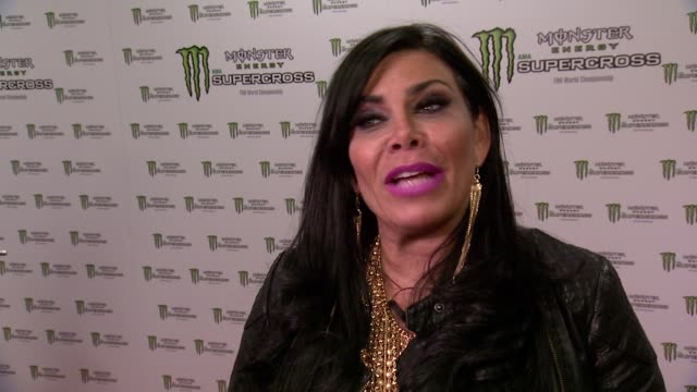 interview renee graziano shares what she's looking forward to most at the monster energy supercross her favorite supercross rider and if she's an... - world sports championship stock videos & royalty-free footage