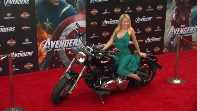 Renee Olstead at The Avengers World Premiere on 4/11/12 in Los Angeles CA