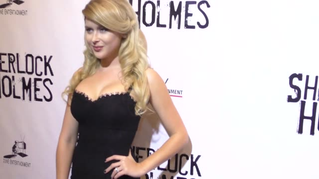 renee olstead at the opening night of sir arthur conan doyle's sherlock holmes at the montalban theatre in hollywood celebrity sightings on october... - arthur conan doyle stock videos & royalty-free footage