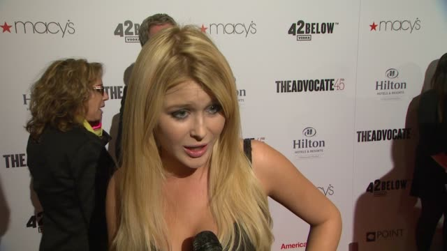 Renee Olstead on being a part of the evening why the Advocate is important to her what she thinks of The Point Foundation's work what she's most...