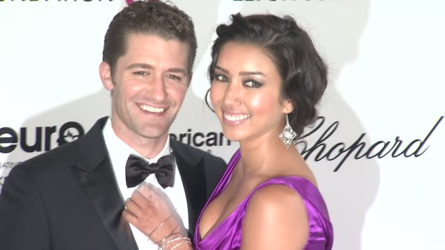 renee puente and matthew morrison at elton john aids foundation celebrates 20th annual academy awards viewing party on 2/26/12 in hollywood, ca. - puente点の映像素材/bロール