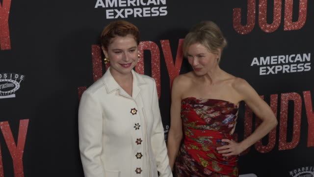 renee zellweger and jessie buckley at the los angeles premiere of judy at samuel goldwyn theater on september 19 2019 in beverly hills california - renee zellweger stock videos & royalty-free footage
