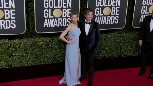 vidéos et rushes de renee zellweger and rupert goold at the 77th annual golden globe awards at the beverly hilton hotel on january 05, 2020 in beverly hills, california. - golden globe awards