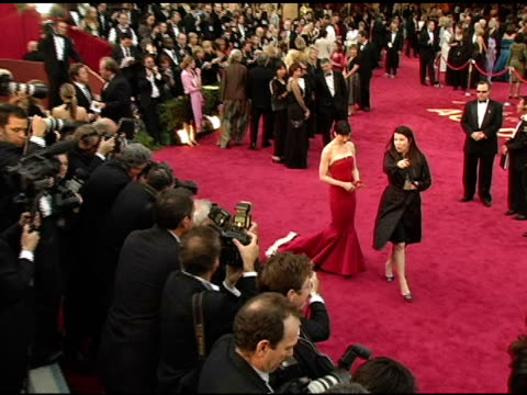 stockvideo's en b-roll-footage met renee zellweger at the 2005 annual academy awards arrivals at the kodak theatre in hollywood, california on february 28, 2005. - 77e jaarlijkse academy awards