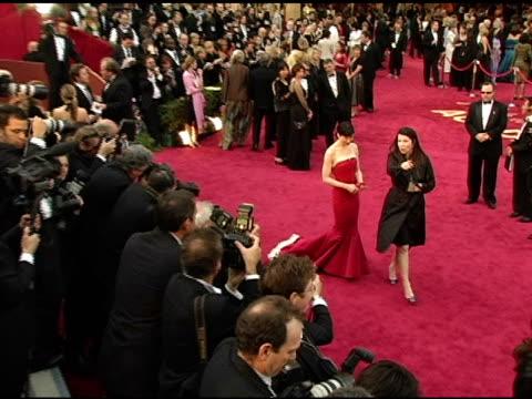 vídeos y material grabado en eventos de stock de renee zellweger at the 2005 annual academy awards arrivals at the kodak theatre in hollywood, california on february 28, 2005. - 77ª ceremonia de entrega de los óscar