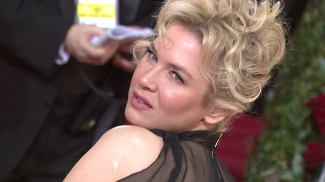 vidéos et rushes de renee zellweger at the 66th annual golden globe awards arrivals part 5 at los angeles ca. - golden globe awards