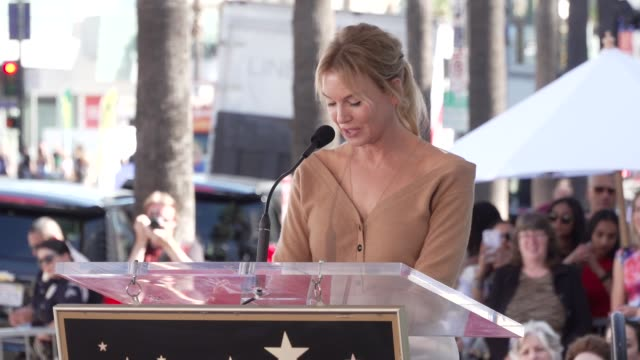 speech renee zellweger at the harry connick jr honored with a star on the hollywood walk of fame on october 24 2019 in hollywood california - renee zellweger stock videos & royalty-free footage