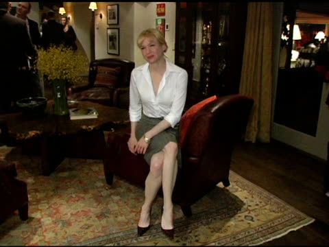 renee zellweger at the in the face of jinn release party at private residence in pacific palisades california on april 18 2005 - renee zellweger stock videos & royalty-free footage