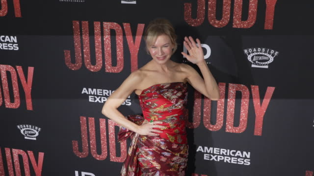 renee zellweger at the los angeles premiere of judy - renee zellweger stock videos & royalty-free footage