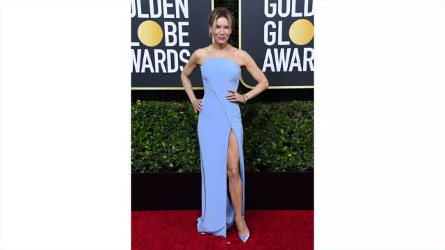 vídeos y material grabado en eventos de stock de renee zellweger attends the 77th annual golden globe awards at the beverly hilton hotel on january 05 2020 in beverly hills california - the beverly hilton hotel