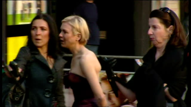 renee zellweger attends the premiere of leatherheads shows exterior shots renee zellweger walking along red carpet and posing for photographs on... - renee zellweger stock videos & royalty-free footage