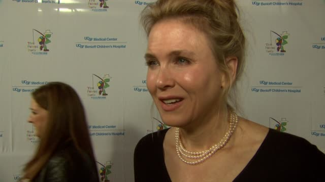 interview renee zellweger on being at the event at stars come out for the ucsf medical center and the painted turtle's starry evening of music comedy... - renee zellweger stock videos & royalty-free footage