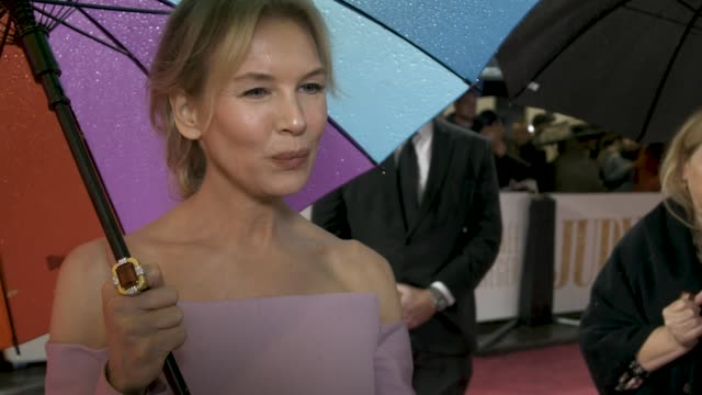 interview renee zellweger on people reactions to the film at 'judy' european premiere at the curzon mayfair on september 30 2019 in london england - renée zellweger stock videos & royalty-free footage