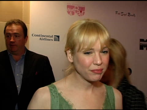 Renee Zellweger on the highlight of the What A Pair Evening for her at the What A Pair 3 Celebrity Concert ot Benefit the Revlon/UCLA Breast Center...