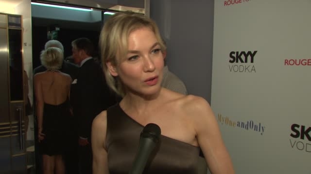renee zellweger talking about her dress playing george hamilton's mother working on the film and her upcoming movie at the 'my one and only' new york... - renee zellweger stock videos & royalty-free footage