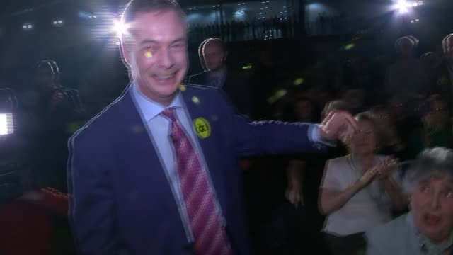 david cameron in brussels 2312016 / r23011610 northamptonshire kettering int nigel farage mep shaking hands with cheering audience members as... - liam fox politician stock videos and b-roll footage