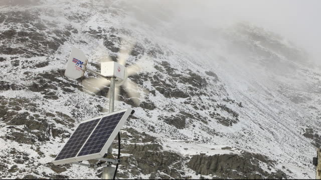 renewable energy powering road signs on kirkstone pass road above ambleside in the lake district, uk - road closed sign stock videos & royalty-free footage