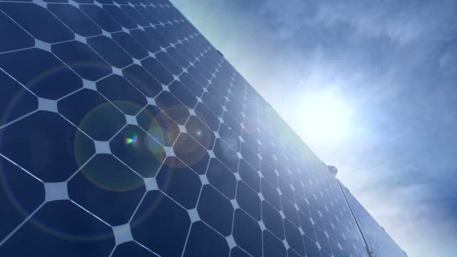 Renewable Energy - Solar Panel, Time Lapse