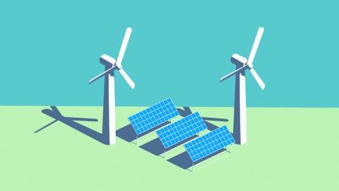 renewable energy transformation - 投影図点の映像素材/bロール