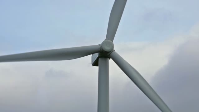 renewable energy wind farm in scottish highlands, moy, zoom in - carbon footprint stock videos and b-roll footage