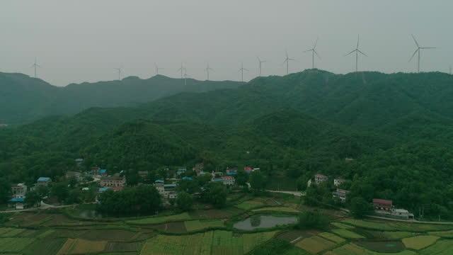 renewable energy with wind turbines - footprint stock videos & royalty-free footage