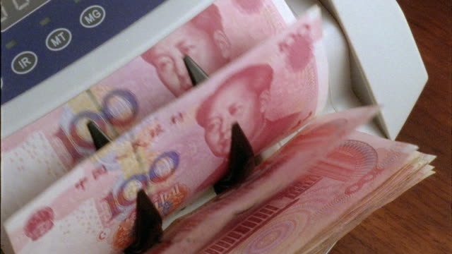 renminbi - yuan - chinese yuan note stock videos & royalty-free footage