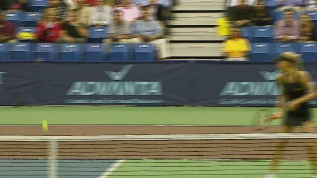rennae stubbs and anna kournikova at the advanta presents wtt smash hits celebrity tennis tournament at bren center university of irvine in irvine... - rennae stubbs stock videos & royalty-free footage