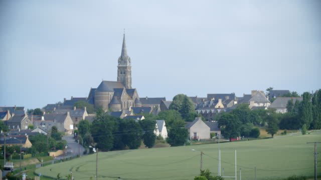 rennes town from the countryside / brittany, france - rennes frankreich stock-videos und b-roll-filmmaterial