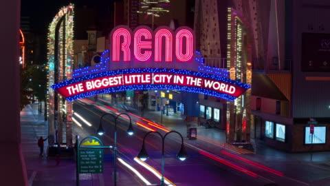 reno sign - nevada stock videos & royalty-free footage