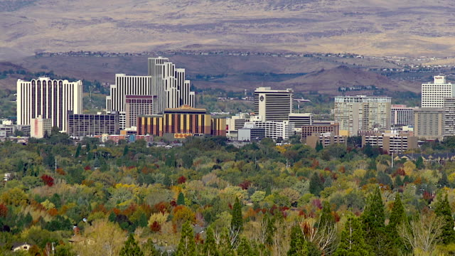 reno skyline - nevada stock videos & royalty-free footage