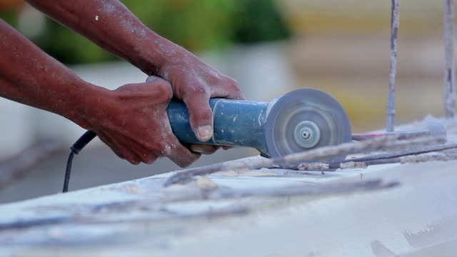 renovation - angle grinder - concrete stock videos & royalty-free footage