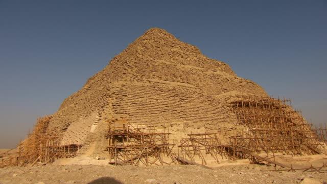 ms zo renovation of saqqara necropolis / egypt - saqqara stock videos and b-roll footage
