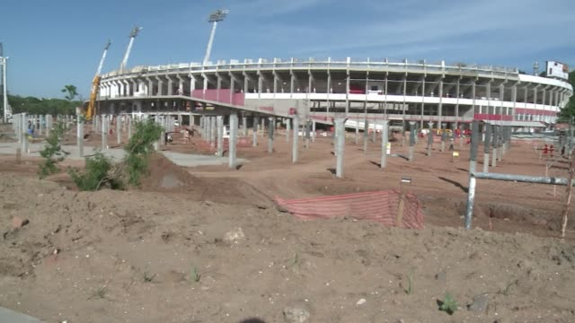 renovations are ongoing in porto alegres beira rio stadium which will host world cup matches in 2014 clean images of porto alegres beira on december... - alegre stock videos & royalty-free footage