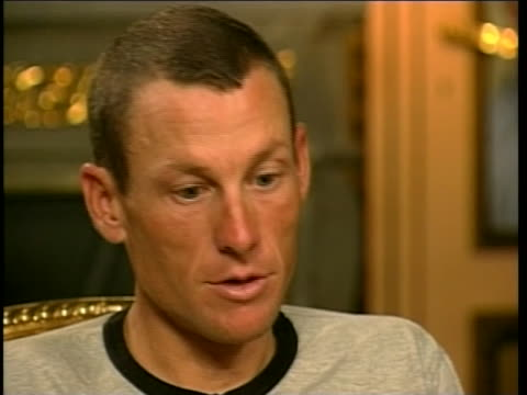 """vidéos et rushes de renown cyclist, lance armstrong makes a comment on his greatest wish in life, after winning tour de france. lance armstrong states, """"my greatest wish... - sport"""