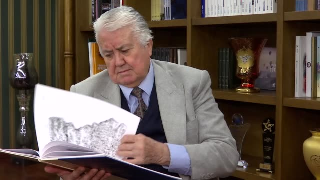 renowned turkish assyriologist veysel donbaz, who has been studying extinct languages for over 56 years, speaks in an exclusive interview in... - istanbul province stock videos & royalty-free footage