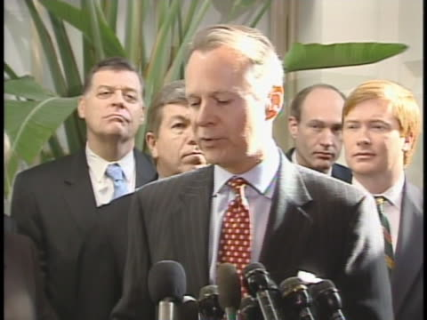 rep. david dreier speaks at a press conference. - rca stock videos & royalty-free footage
