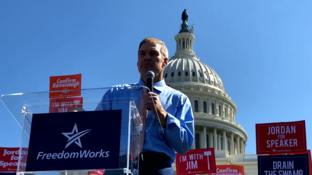 us rep jim jordan speaks during a rally hosted by freedomworks september 26 2018 at the west lawn of the us capitol in washington dc freedomworks... - bid stock videos & royalty-free footage