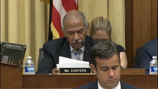 stockvideo's en b-roll-footage met rep john conyers former chairman of the house judiciary committee blamed republicans for failed immigration reform effort - harder