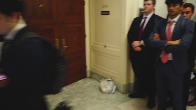 US Rep Matt Gaetz speaks to members of the media outside the hearing room where former special counsel Robert Mueller testifies before the House...