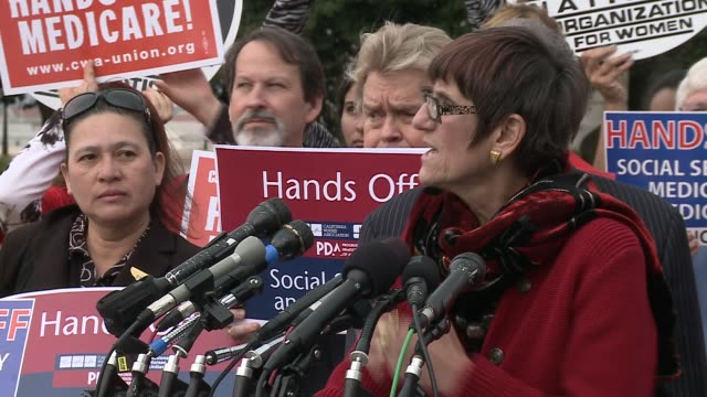 rep rosa delauro dconnecticut soundbites on no cuts to social security medicare medicaid as proposed by super committee aka joint committee on... - medicaid stock videos and b-roll footage