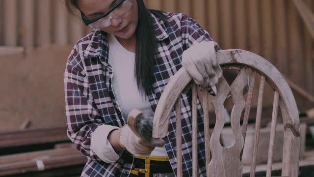 repair chair - chair stock videos & royalty-free footage