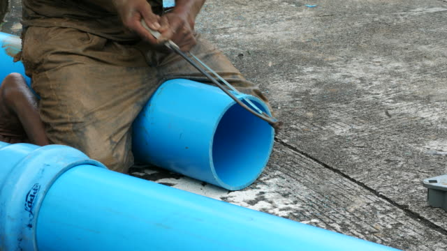 repairing big underground water pipe - water pipe stock videos and b-roll footage