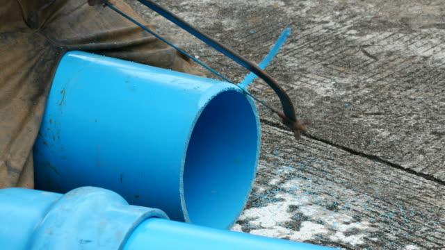repairing big underground water pipe - drain stock videos & royalty-free footage