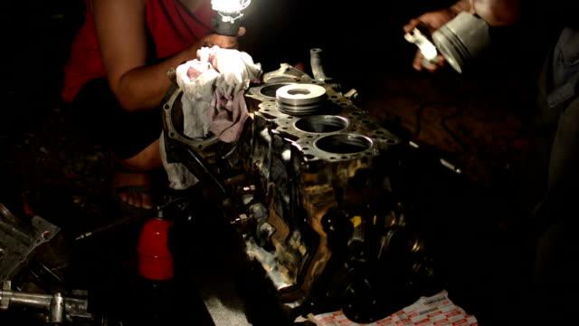 repairing car engine - piston stock videos & royalty-free footage