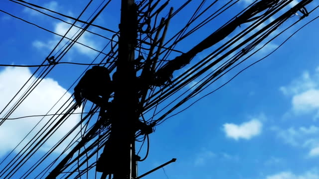 repairing electrical wires - power cut stock videos & royalty-free footage