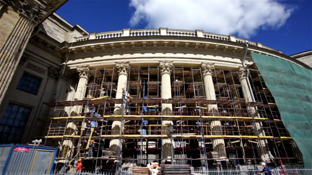 repairing the kazan cathedral - kazan russia stock videos and b-roll footage
