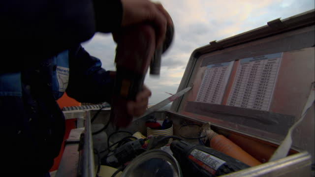 ms pan repairman opening tool box and fixing wind turbine / paderburne, germany - repairman stock videos & royalty-free footage